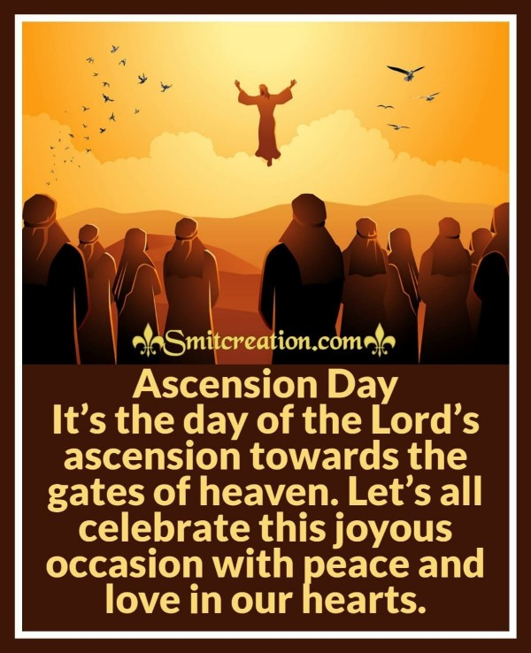 Ascension Day Is The Day Of Lord