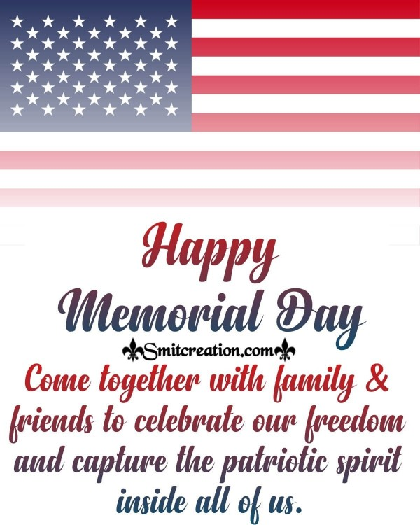 Happy Memorial Day Greeting For Friends And Family