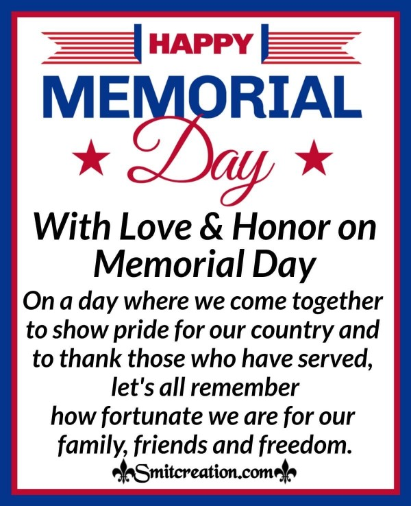 With Love & Honor on Memorial Day