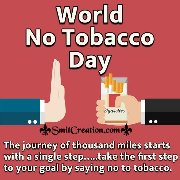 World No Tobacco Day Message