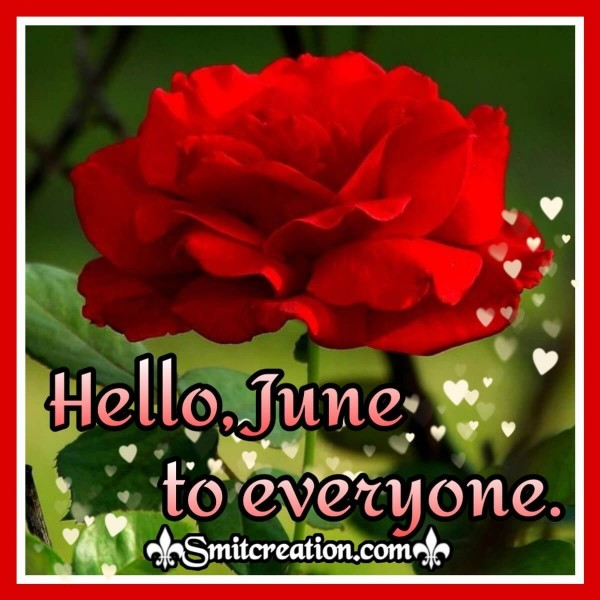 Hello, June To Everyone