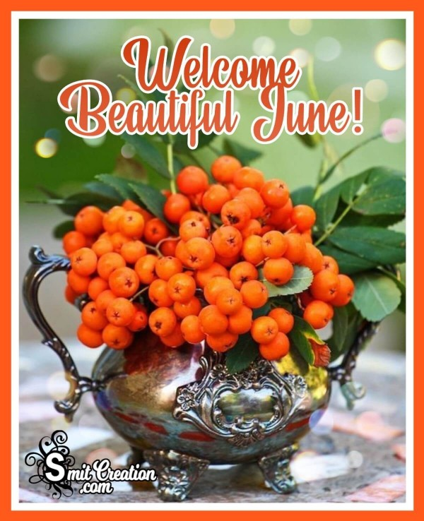 Welcome Beautiful June!