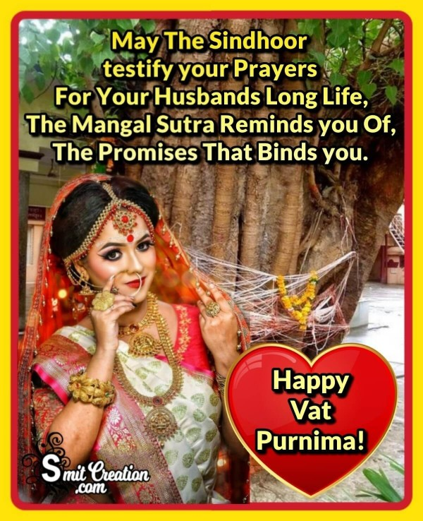 Happy Vat Purnima Wish For Married Woman