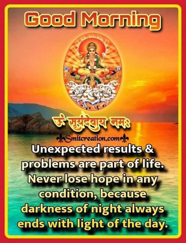 Good Morning Om Suryadevay Namah