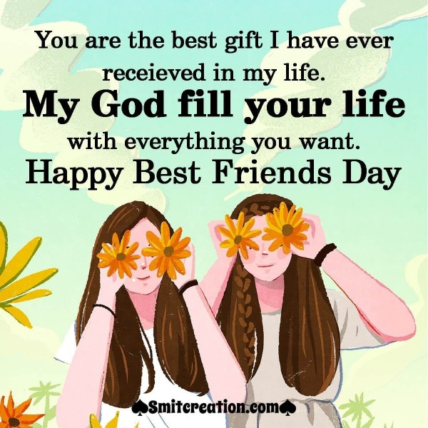 Happy Best Friends Day Wishes Image