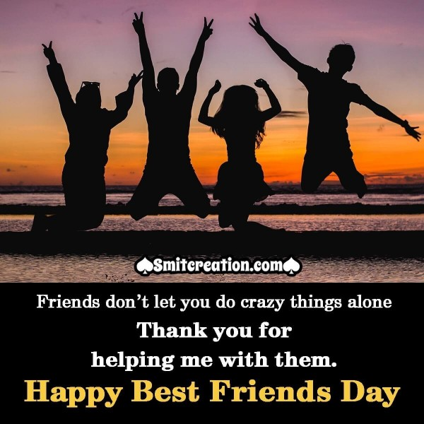 Happy Best Friends Day Thank You Image