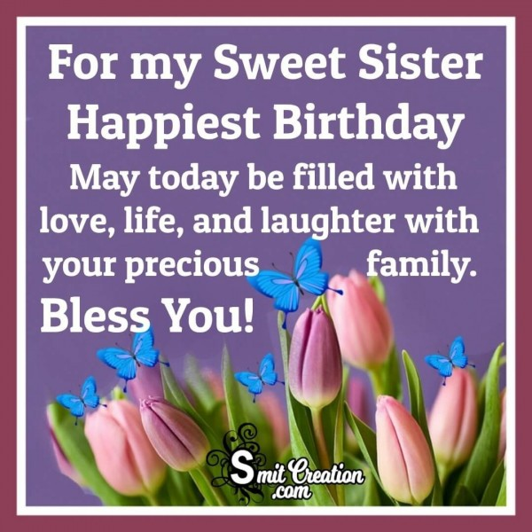 Happy Birthday Image For my Sweet Sister