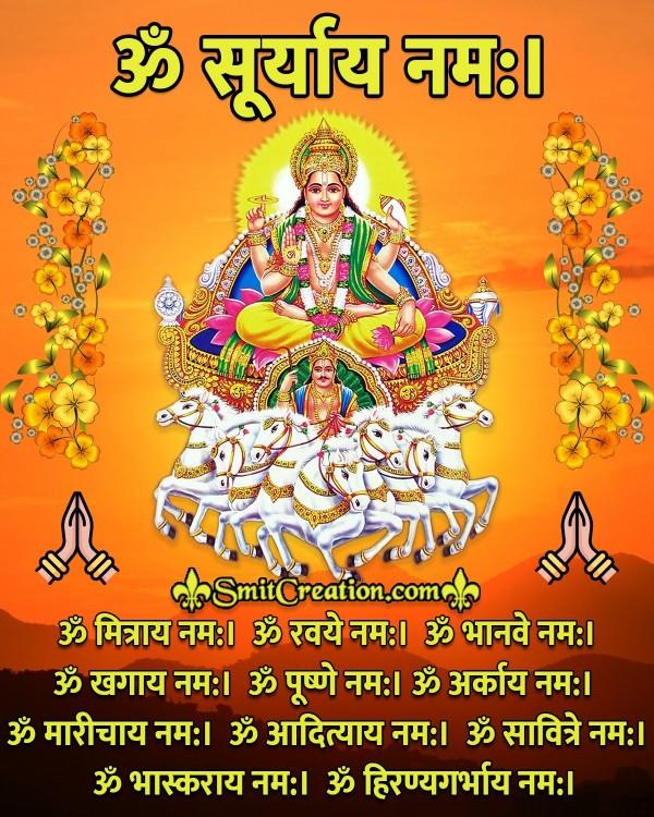 Importance Of 12 Names Of Surya Dev