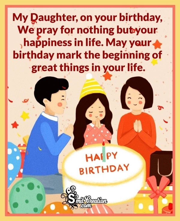 Happy Birthday Prayer For My Daughter