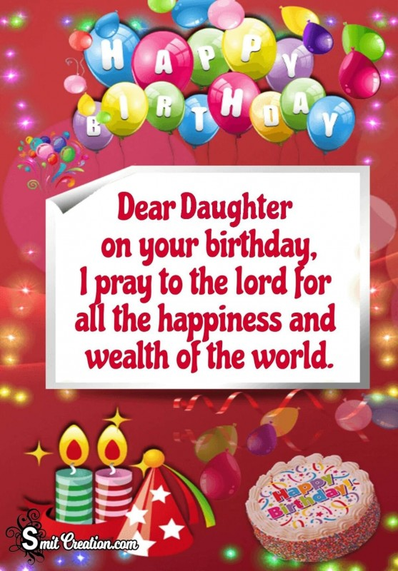 Dear Daughter Happy Birthday