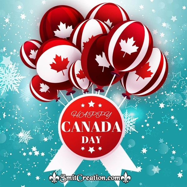 Happy Canada Day Balloons Image