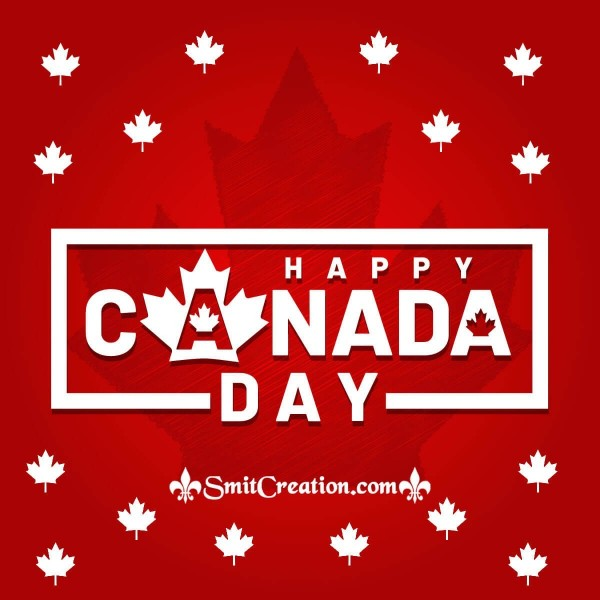 Happy Canada Day Red Image