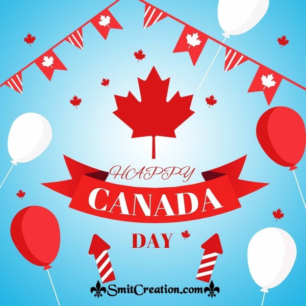 Happy Canada Day Balloons Pic