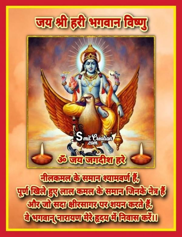 Jai Shree Hari Bhagwan Vishnu