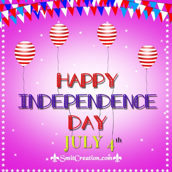Happy Independence Day July 4 Image