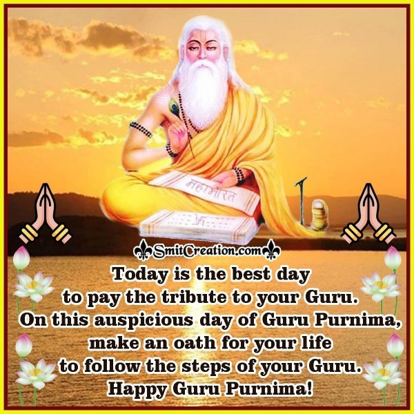 Happy Guru Purnima Message Image For Guru