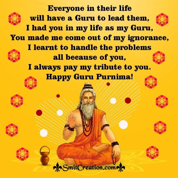 Send Happy Guru Purnima Message Image To Your Guru