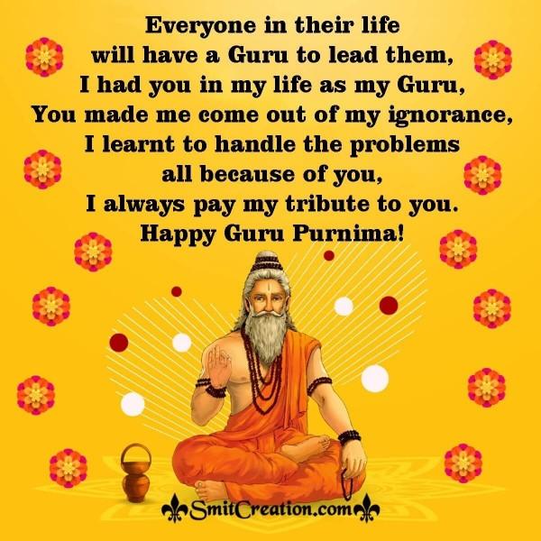 Send Happy Guru Purnima Message Image To Your Guru