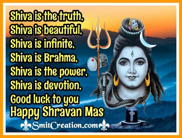 Happy Shravan Mas Quote Image