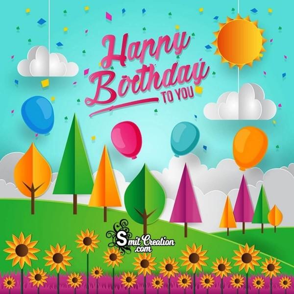 Happy Birthday Nature Art Picture