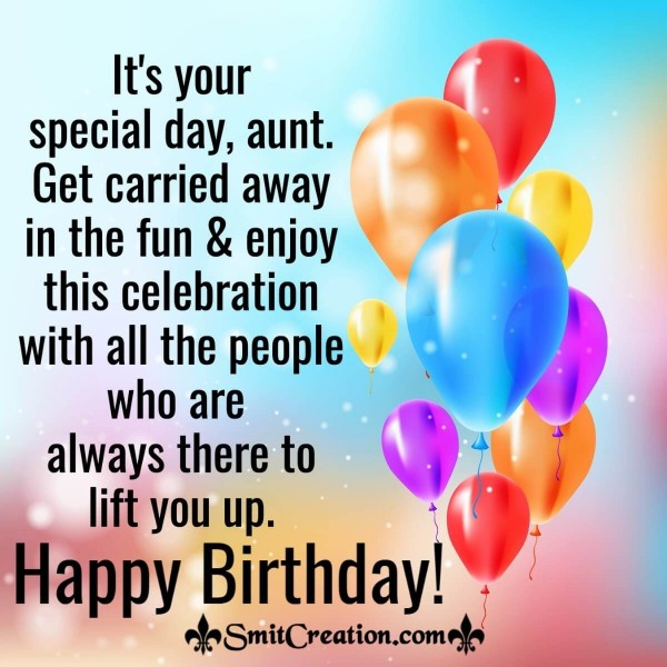 Happy Birthday Special Wishes For Aunt
