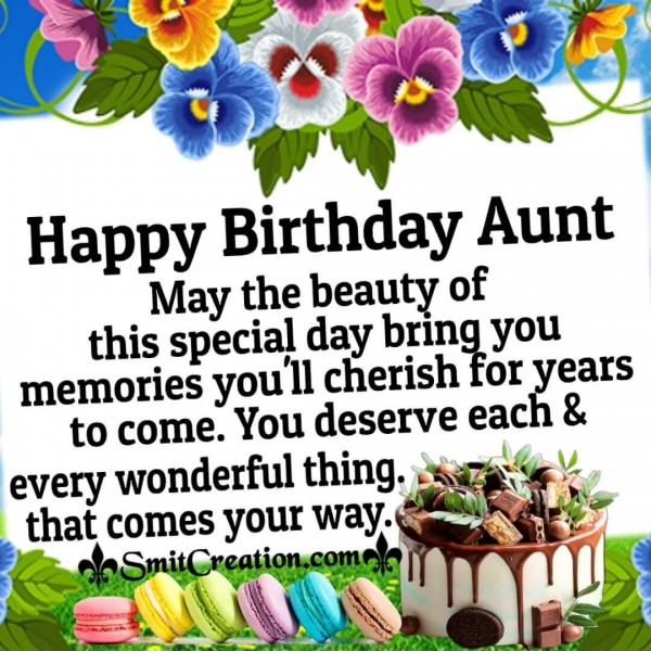 Happy Birthday Wonderful Wishes For Aunt