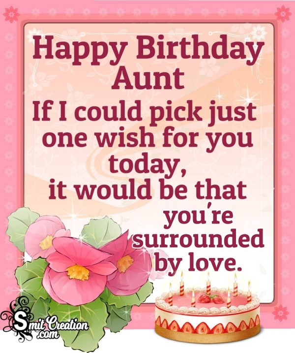 Happy Birthday Lovely Wishes For Aunt