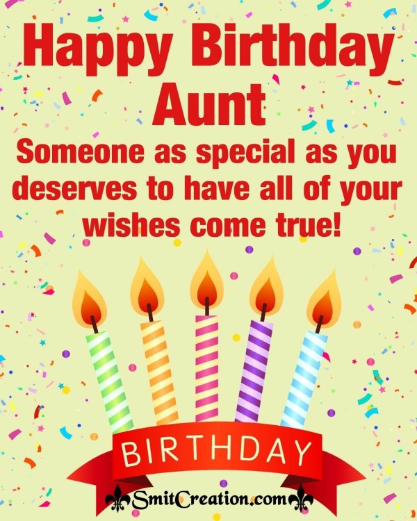 Happy Birthday Special Wish For Aunt