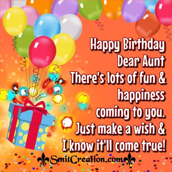 Happy Birthday Wishes To Dear Aunt