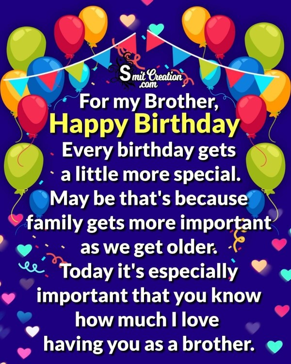 Happy Birthday Wishes For My Brother!