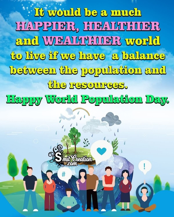Happy World Population Day Poster Message