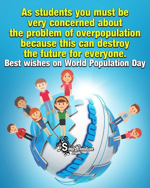 Best Wishes To Students On World Population Day