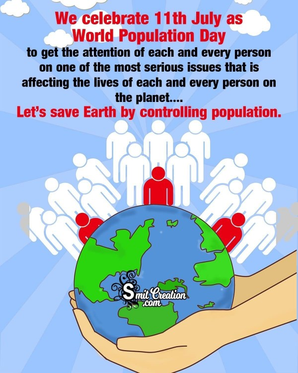 Let's Save Earth By Controlling Population Poster