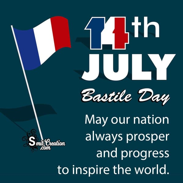 14th july Bastile Day Wishes