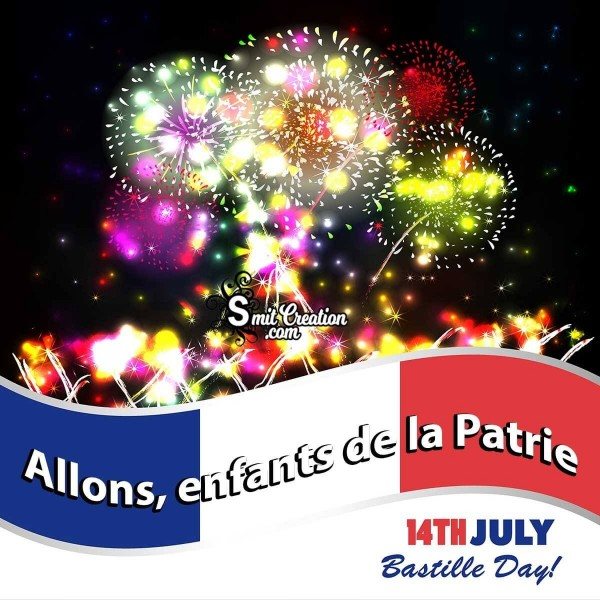 14th july Bastile Day Allons, enfants de la Patrie