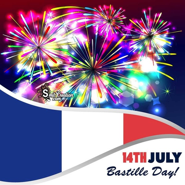 14th july Bastile Day Fireworks Image