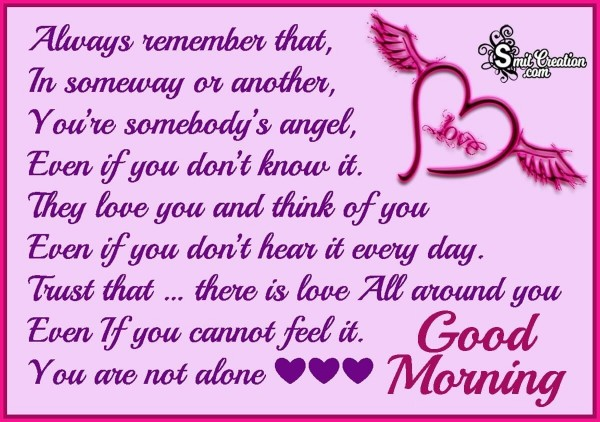 Good Morning Angel Message Image