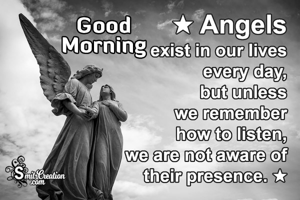Good Morning Angel Status Image