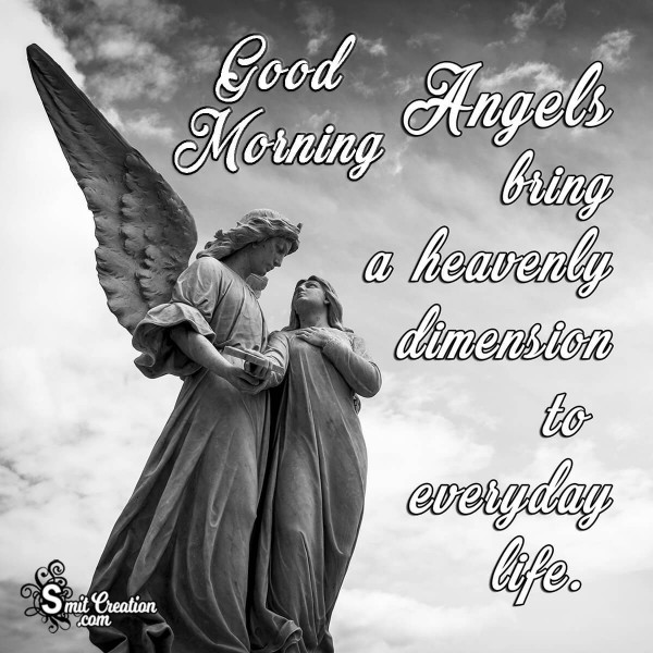 Good Morning Angel Quote Pic