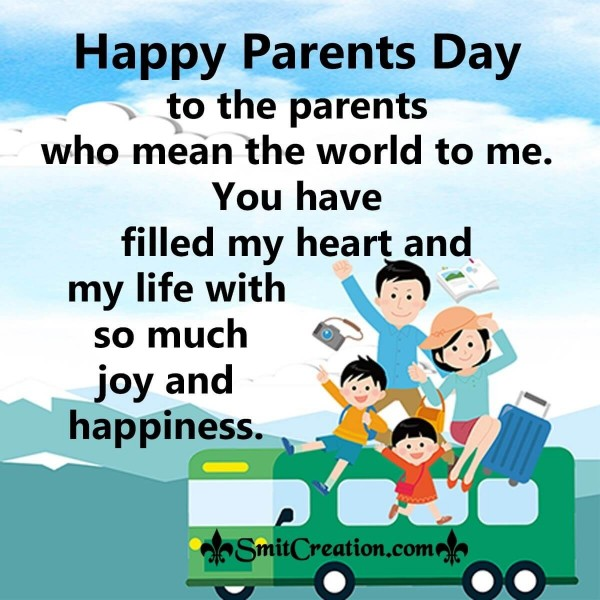 Happy Parents Day To The Parents