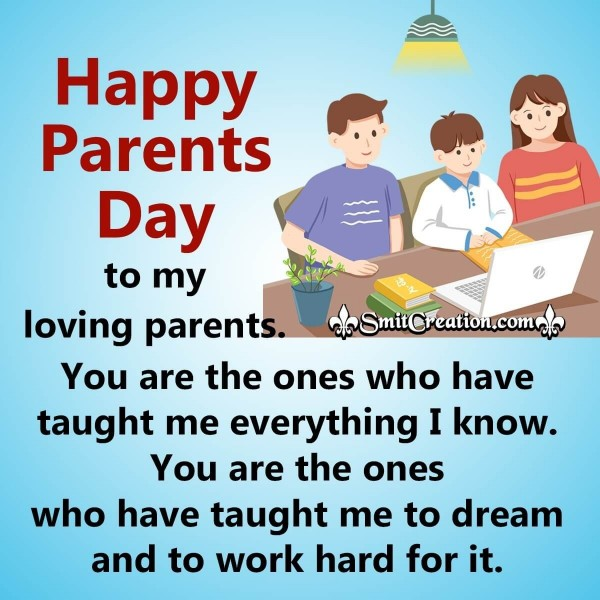 Happy Parents Day To My Loving Parents