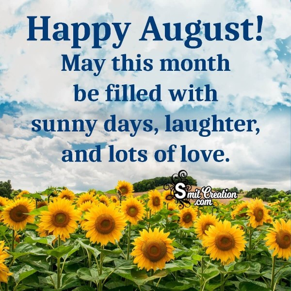 Happy August Wish Image