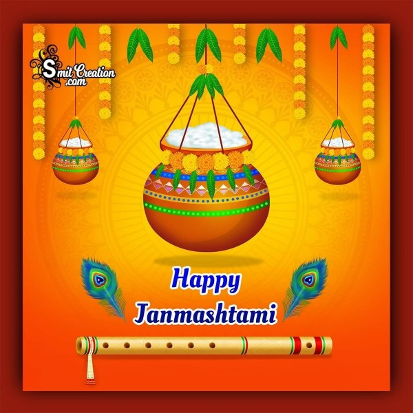 Happy Janmashtami Cute Image