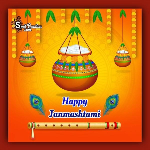 Happy Janmashtami Cute Image