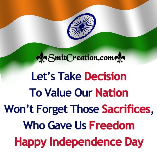 Happy Independence Day Message Picture