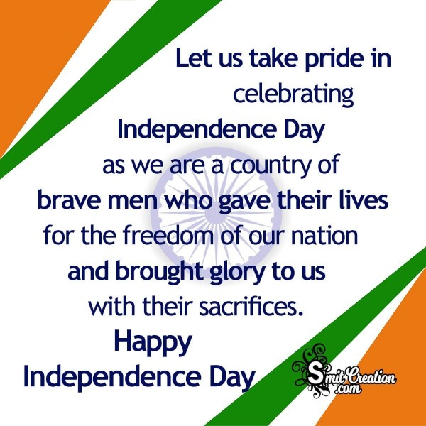 Happy Independence Day Message Image