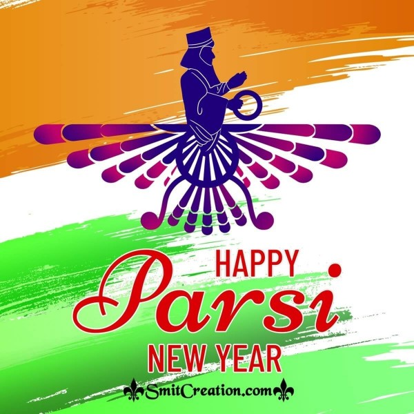 Happy Parsi New Year Indian Tri Colour