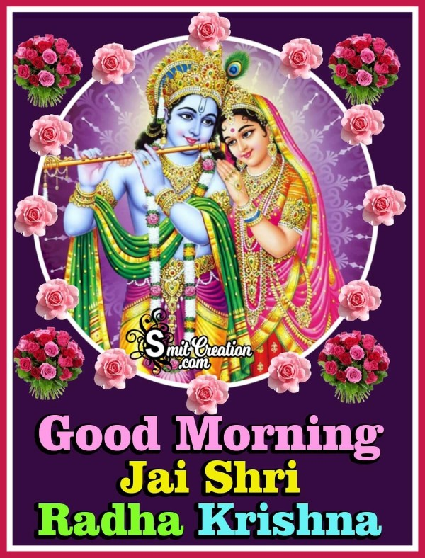 Good Morning Jai Shri Radha Krishna Picture