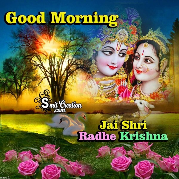 Good Morning Jai Shri Radha Krishna Image