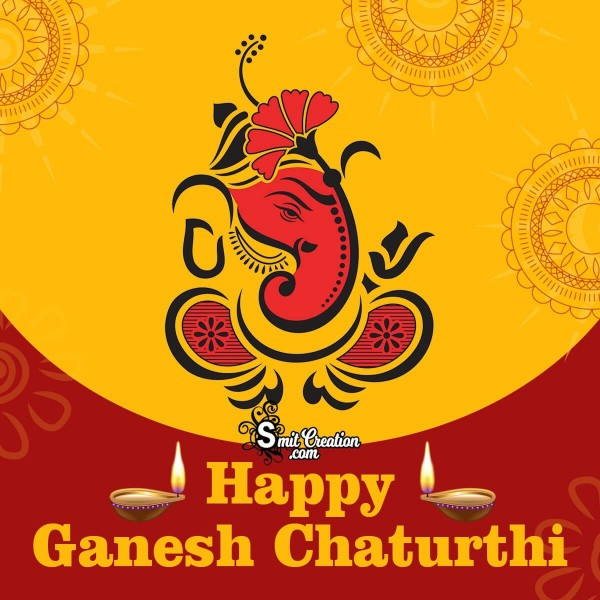 Happy Ganesh Chaturthi Creative Image